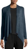 Eileen Fisher Lightweight Cozy Drape-Front Cardigan