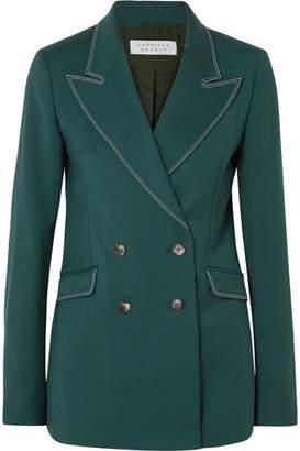 Gabriela Hearst Angela Double-breasted Wool-blend Blazer - Green