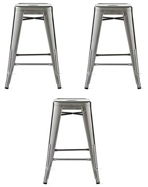 "17 Stories Wiltse Bar & Counter Stool Seat Height: Counter Stool (26"" Seat Height), Pack Size: 3"