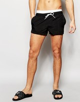 Asos Swim Shorts With Double Waistband Detail In Super Short Length