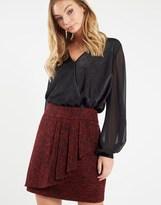 Naf Naf Frill Detail Wrap Skirt