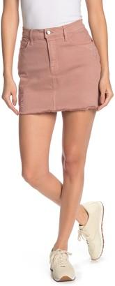 Frame Embroidered Raw Hem Mini Skirt (Regular & Plus Size)