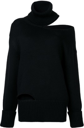 Monse off shoulder cut-out sweater