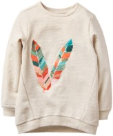 Crazy 8 Sparkle Feather Pullover