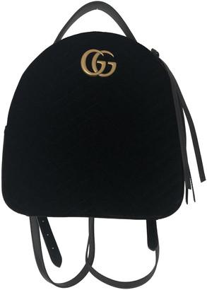 Gucci Marmont Black Velvet Backpacks