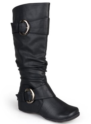 Brinley Co. Women's Slouchy Buckle Detail Boots