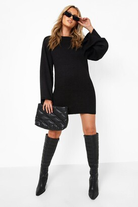 boohoo Oversized Wide Sleeve Sweater Dress