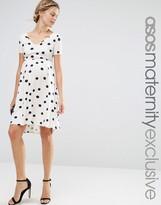 Asos Blurred Spot Skater Dress