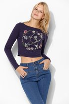Truly Madly Deeply Floral Pentagram Fitted Tee