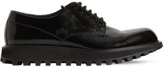 Dolce & Gabbana 25mm Naxos Leather Lace-Up Shoes