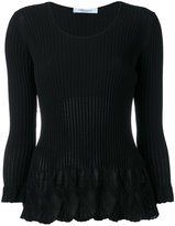Blumarine flared knit top - women - Polyamide/Viscose - 38
