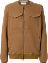 White Mountaineering collarless jacket
