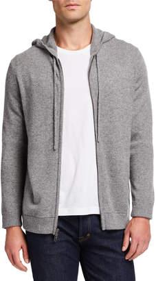 Neiman Marcus Men's Cashmere Zip-Front Hoodie