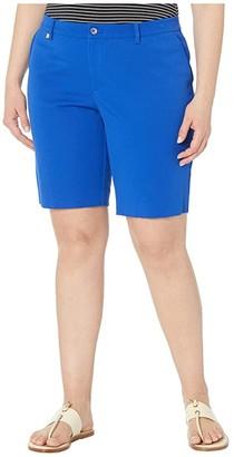 Lauren Ralph Lauren Plus Size Bi-Stretch Twill Shorts (Blue Glacier) Women's Shorts