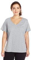 Nautica Sleepwear Women's Plus Size Knit Jersey V-Neck Tee