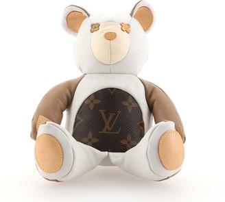 Louis Vuitton Dou Dou Teddy Bear Leather with Monogram Canvas