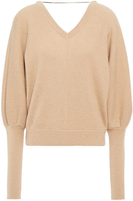 Brunello Cucinelli Bead-embellished Ribbed Cashmere Sweater