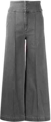 Stella McCartney High-Waisted Wide-Leg Jeans