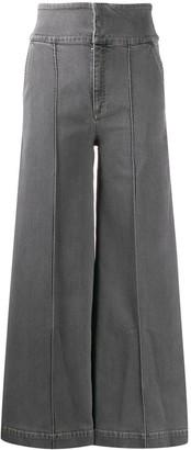 Stella McCartney high-waisted wide-leg jeans