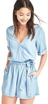 Gap TENCEL V-neck wrap romper