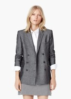 Mango Outlet Double-Breasted Cotton Blazer