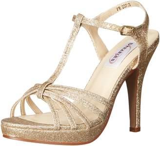 Dyeables Dyeables, Inc Womens Inc Womens Kaylee Platform Dress Sandal