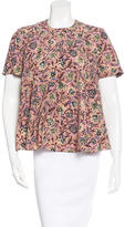 Balenciaga Short Sleeve Floral Print Top
