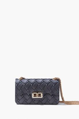 Forever 21 Mini Basketwoven Crossbody Bag
