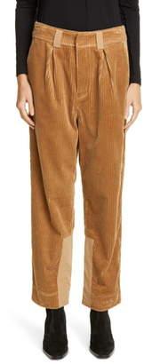 Ganni Tiger's-Eye Corduroy Trousers