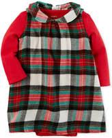 Carter's 2-Pc. Pointelle Bodysuit & Plaid Dress Set, Baby Girls