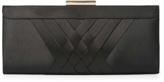 Forever New Fiona Frame Satin Clutch - Black - 00