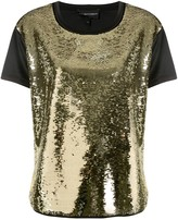Emporio Armani sequin embellished front T-shirt