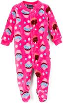 Sweet & Soft Pink Cupcakes Fleece Footie - Infant