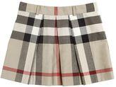 Burberry Check Cotton Gabardine Skirt