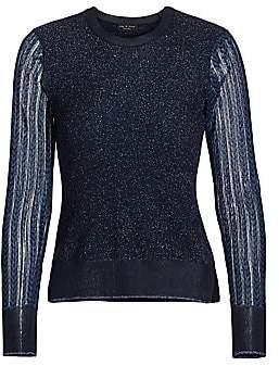 Rag & Bone Women's Rower Metallic Merino Wool-Blend Sweater