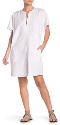 Vince Short Sleeve Cotton Shift Dress