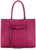 Rebecca Minkoff MAB Large Saffiano Tote Bag, Magenta