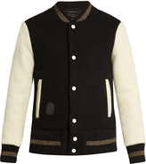 Marc Jacobs Contrast-sleeve wool bomber jacket