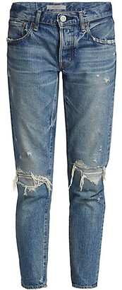Moussy Wantage Mid-Rise Tapered Jeans