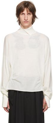 Sulvam White Wool High-Neck Sweater