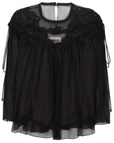 Chloé Lace-trimmed Silk Top