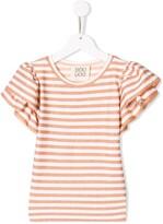 striped ruffle T-shirt