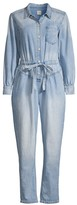 Rebecca Taylor Button Front Denim Jumpsuit
