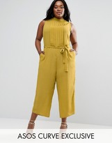 Asos Wide Leg Jumpsuit with Pleated Front Panel
