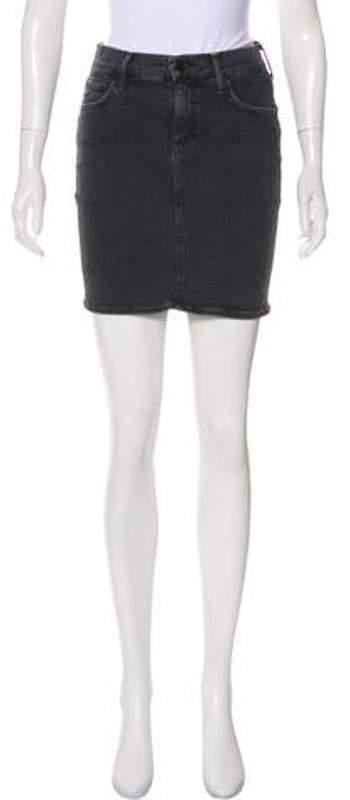 Mother Mini Skirt Grey Mini Skirt