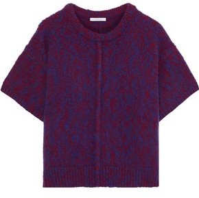 Chloé Marled Wool And Cashmere-blend Sweater