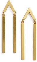 Madewell Arrow Bar Drop Earrings