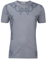 Versace Collection Neck Detail Tshirt - Grey