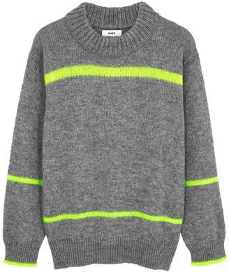 Mads Norgaard Kiramo grey metallic-weave jumper