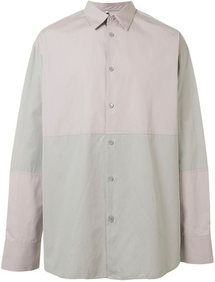 Oamc Oversized Two-Tone Shirt